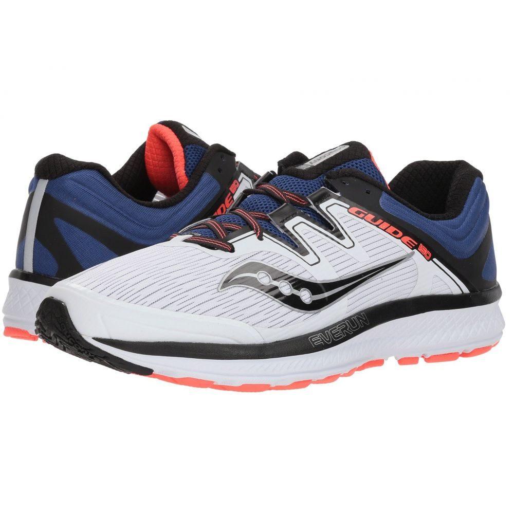サッカニー メンズ ランニング・ウォーキング シューズ・靴【Guide ISO】White/Blue/Vizi Red