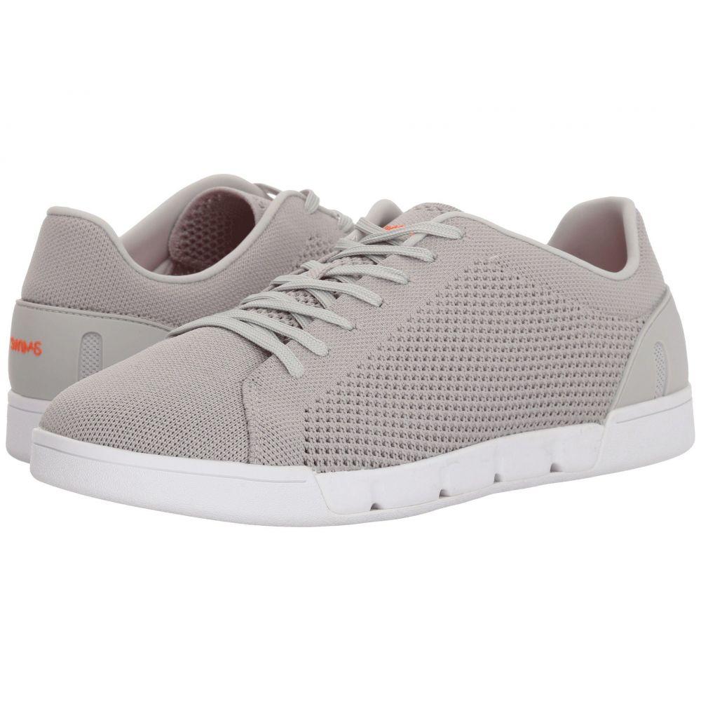 スウィムス メンズ テニス シューズ・靴【Breeze Tennis Knit Sneakers】Light Gray/White