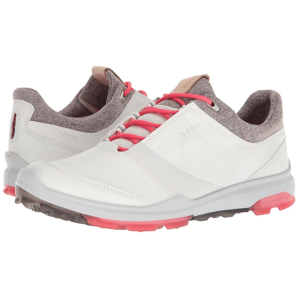 エコー レディース ゴルフ シューズ・靴【Biom Hybrid 3 GTX】White/Teaberry