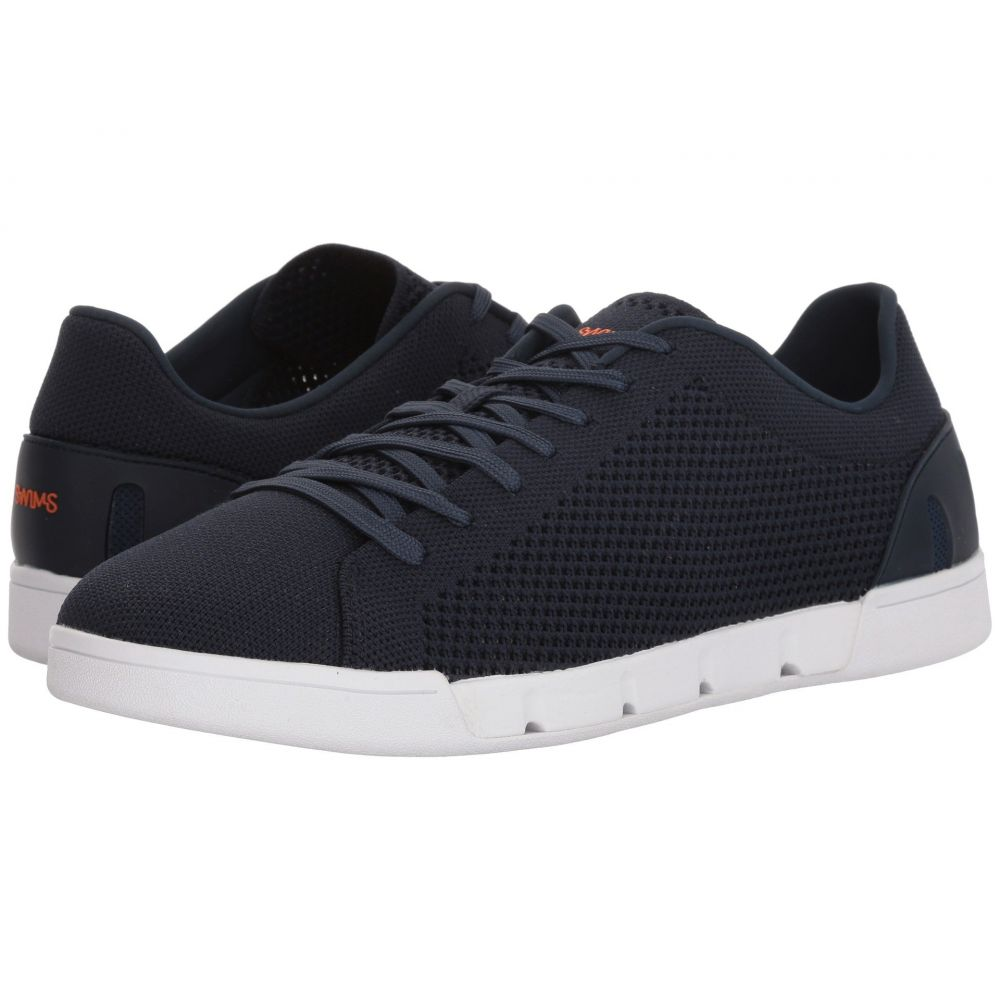 スウィムス メンズ テニス シューズ・靴【Breeze Tennis Knit Sneakers】Navy/White