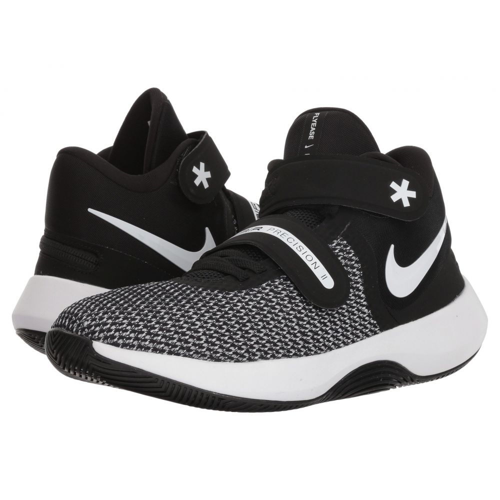 ナイキ レディース バスケットボール シューズ・靴【Air Precision II FlyEase】Black/White/Volt