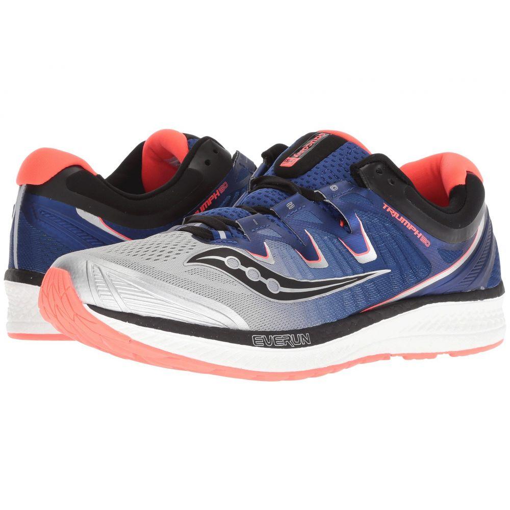 サッカニー メンズ ランニング・ウォーキング シューズ・靴【Triumph ISO 4】Silver/Blue/Vizi Red