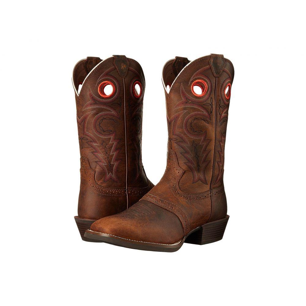 ジャスティン メンズ シューズ・靴 ブーツ【Sagen】Chocolate Brown