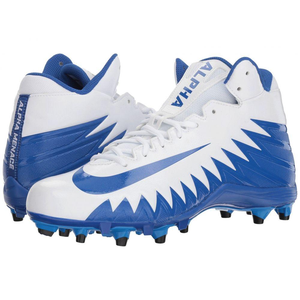 ナイキ メンズ アメリカンフットボール シューズ・靴【Alpha Menace Varsity Mid】White/Game Royal/Game Royal/Photo Blue