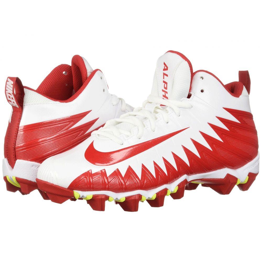 ナイキ メンズ アメリカンフットボール シューズ・靴【Alpha Menace Shark】White/University Red/University Red