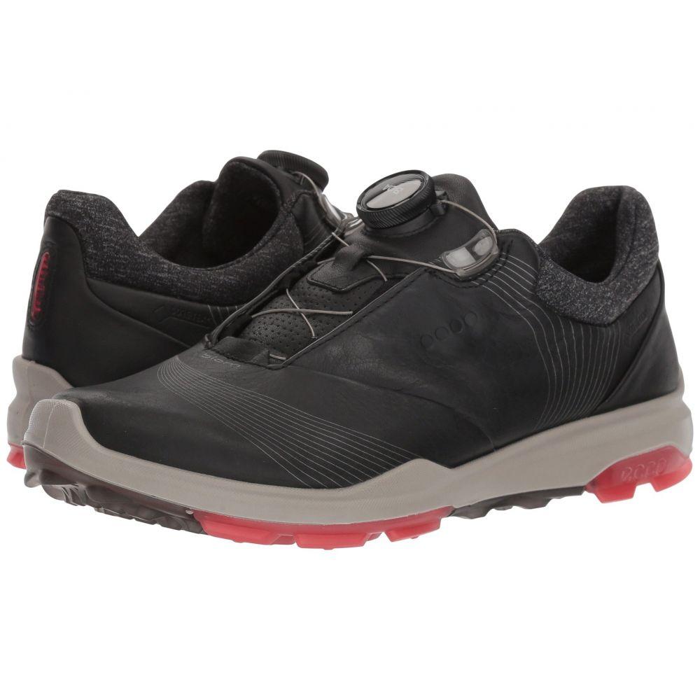 【楽天スーパーセール】 エコー レディース レディース ゴルフ シューズ・靴【Biom Hybrid Boa】Black/Teaberry 3 Boa ゴルフ】Black/Teaberry, せんべいラボ:9486816a --- clftranspo.dominiotemporario.com