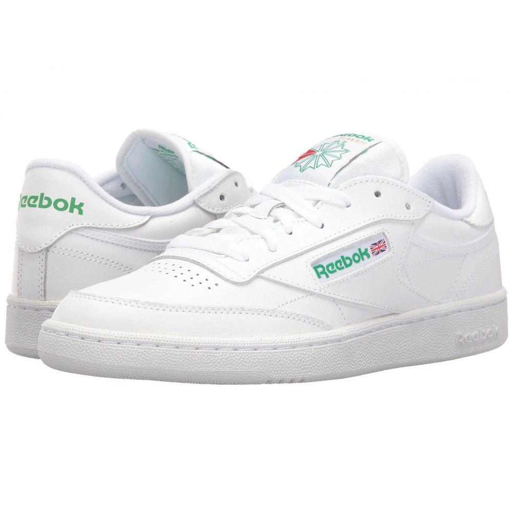 リーボック メンズ テニス シューズ・靴【Club C 85】Int/White/Green