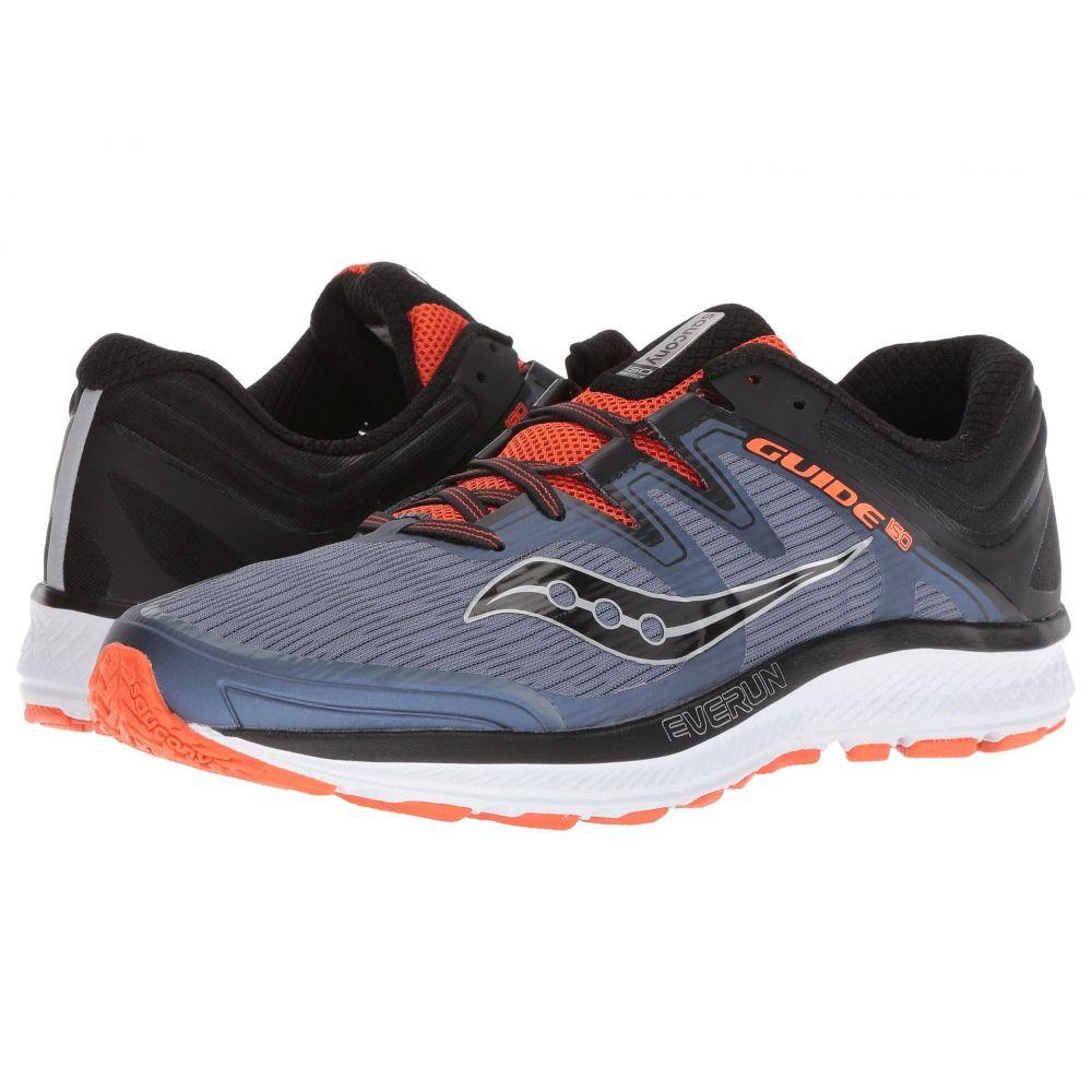 サッカニー メンズ ランニング・ウォーキング シューズ・靴【Guide ISO】Grey/Black/Orange