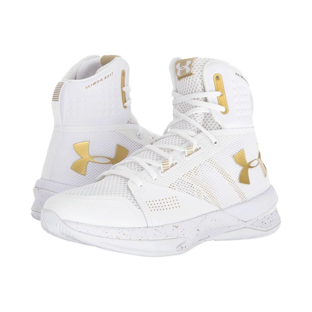 アンダーアーマー レディース バレーボール シューズ・靴【UA Highlight Ace】White/Metallic Gold/Metallic Gold