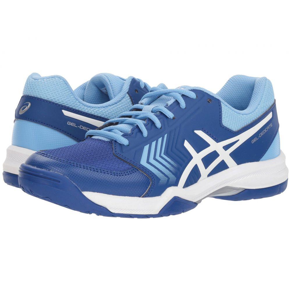 アシックス レディース テニス シューズ・靴【Gel-Dedicate 5】Monaco Blue/White