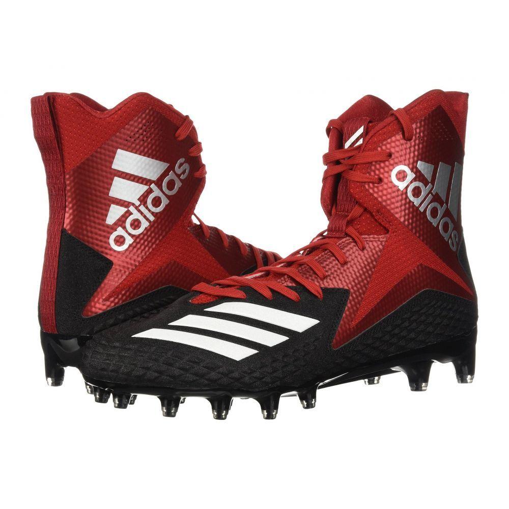 アディダス メンズ アメリカンフットボール シューズ・靴【Freak x Carbon High】Core Black/Footwear White/Power Red
