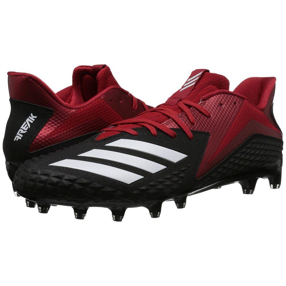アディダス メンズ アメリカンフットボール シューズ・靴【Freak x Carbon Low】Core Black/Footwear White/Power Red