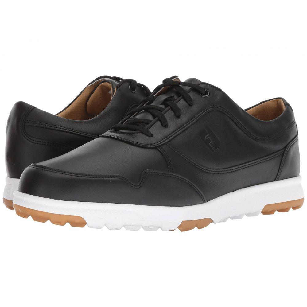 フットジョイ メンズ ゴルフ シューズ・靴【Golf Casual Spikeless Street Sneaker】All Over Black Smooth