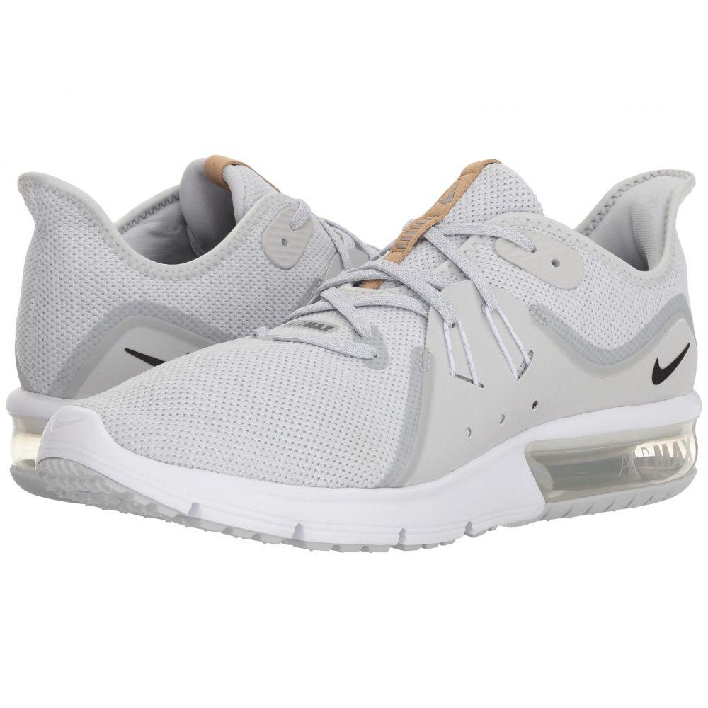 ナイキ メンズ ランニング・ウォーキング シューズ・靴【Air Max Sequent 3】Pure Platinum/Black/White 1