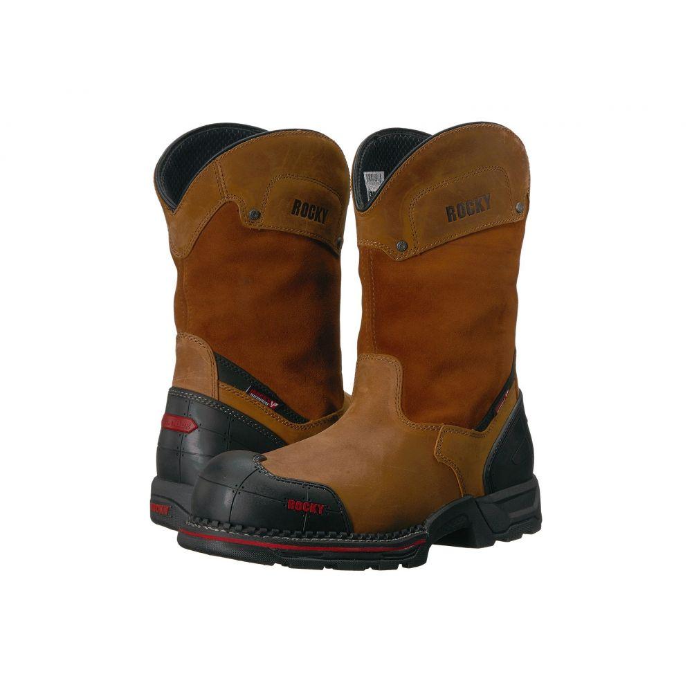 ロッキー メンズ シューズ・靴 ブーツ【10 Workmaxx Wellington Comp Toe WP】Brown