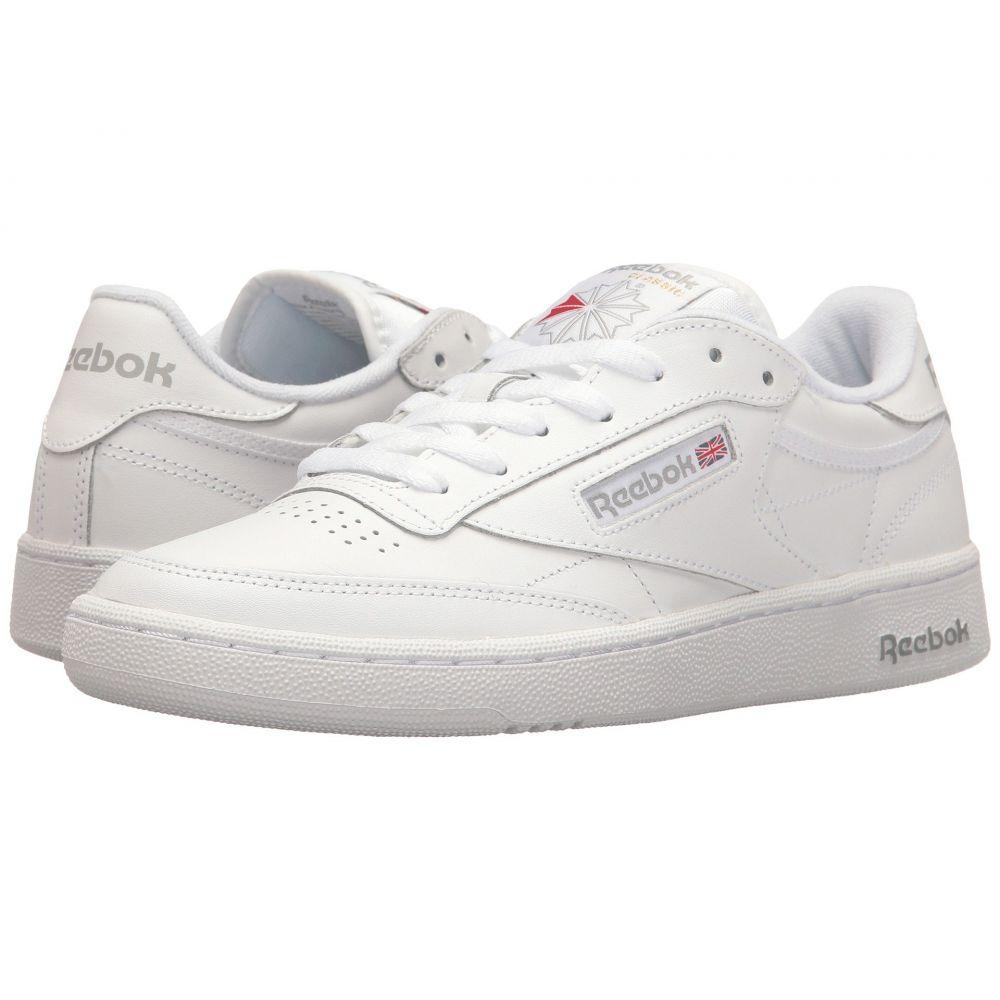 リーボック メンズ テニス シューズ・靴【Club C 85】Int/White/Sheer Grey