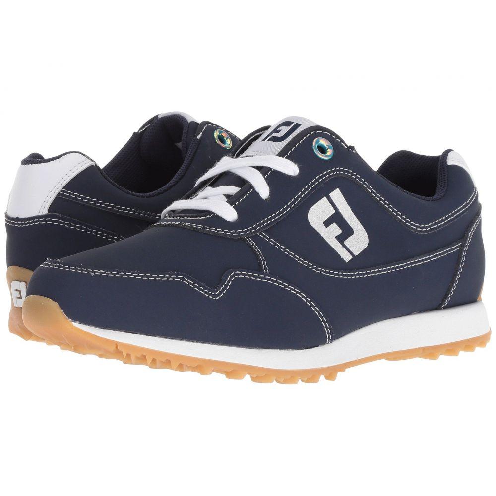 フットジョイ レディース ゴルフ シューズ・靴【Sport Retro Spikeless Street Sneaker】All Over Navy