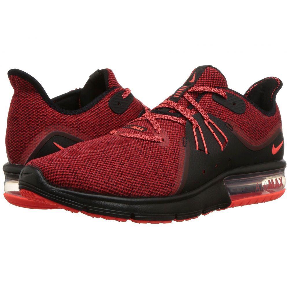ナイキ メンズ ランニング・ウォーキング シューズ・靴【Air Max Sequent 3】Black/Total Crimson/University Red
