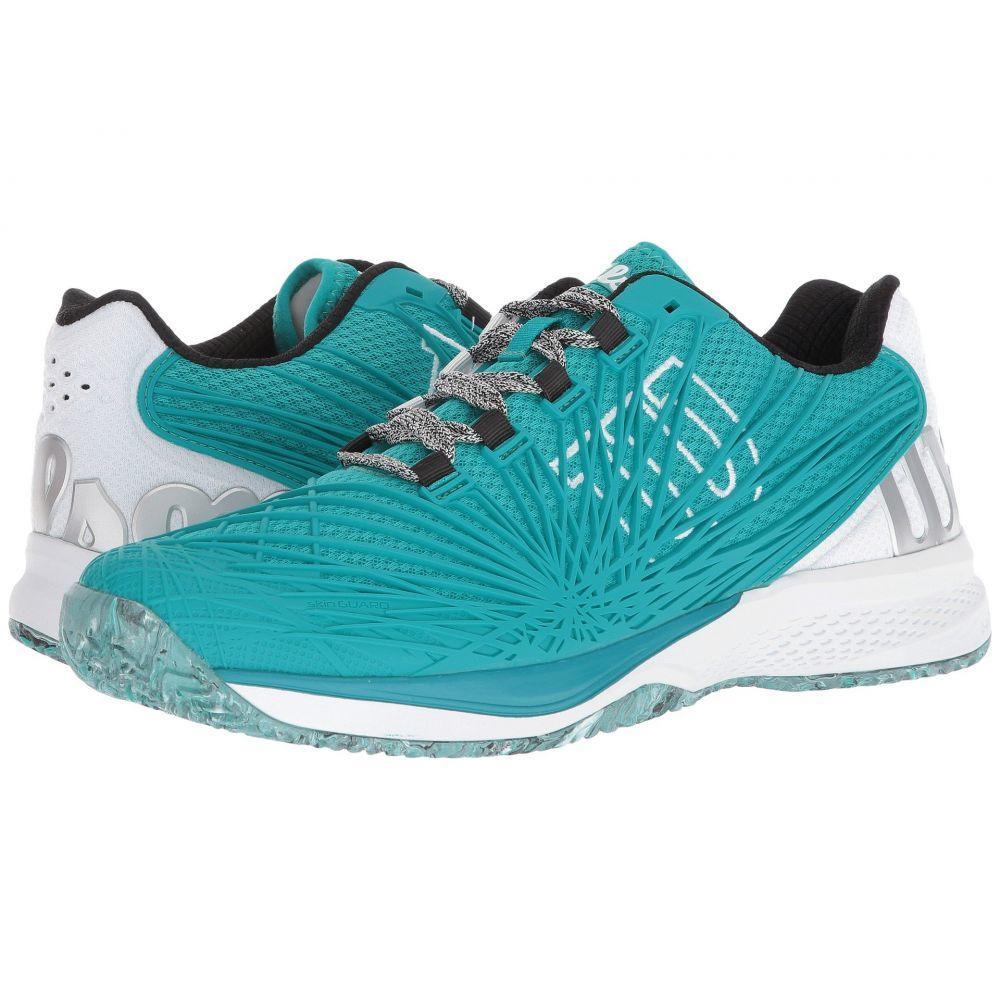 ウィルソン メンズ テニス シューズ・靴【Kaos 2.0】Tropical Green/White/Black