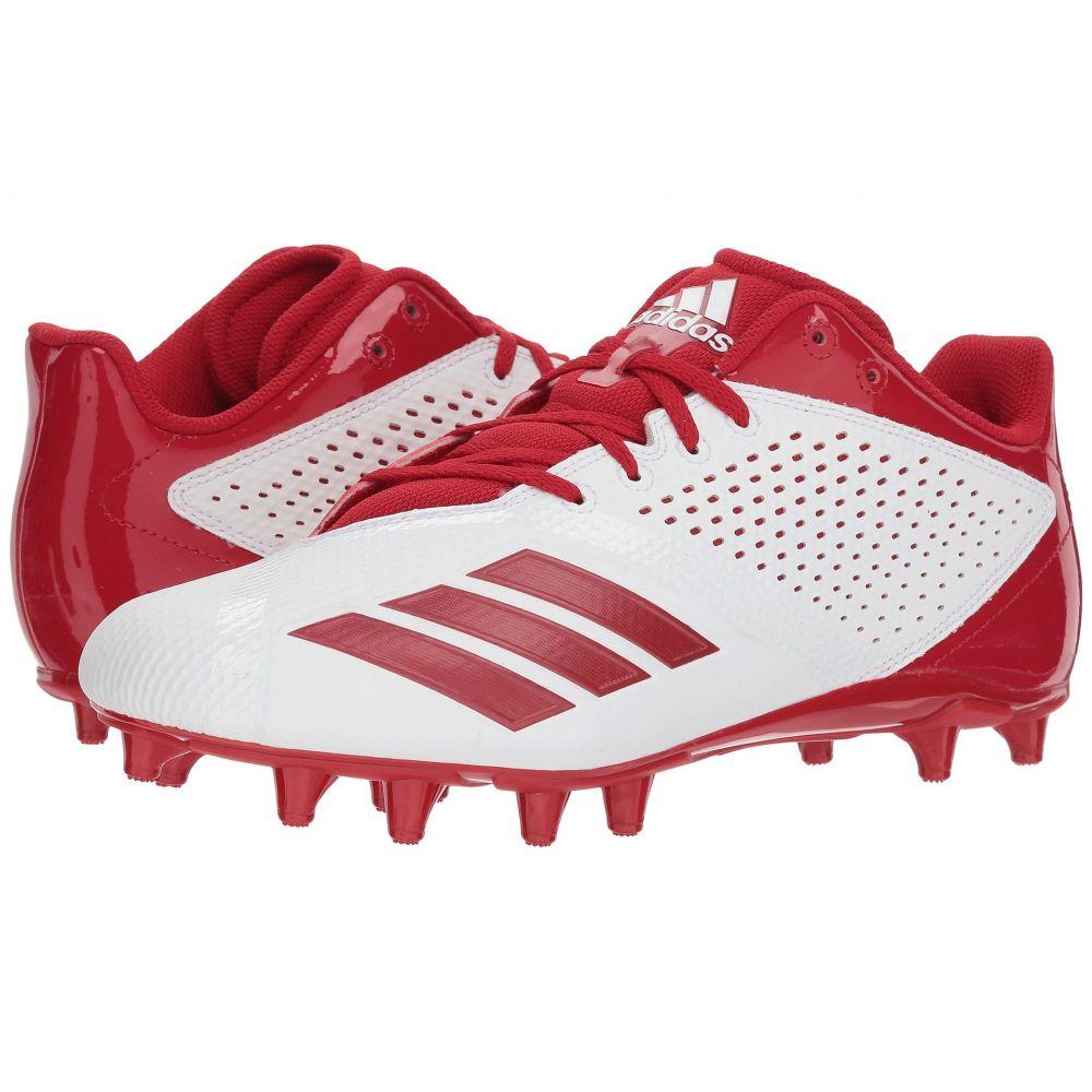 アディダス メンズ アメリカンフットボール シューズ・靴【5-Star】Footwear White/Power Red/Silver Metallic