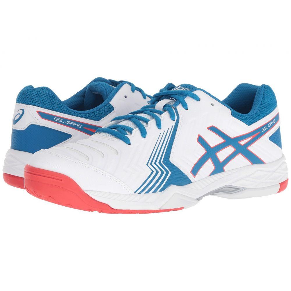 アシックス メンズ テニス シューズ・靴【Gel-Game 6】White/Race Blue