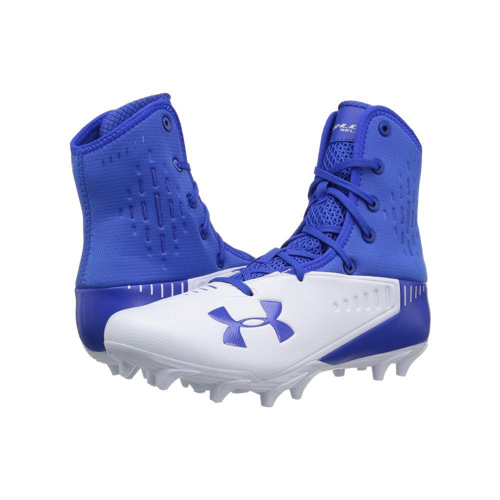 アンダーアーマー メンズ アメリカンフットボール シューズ・靴【UA Highlight Select MC】Team Royal/White