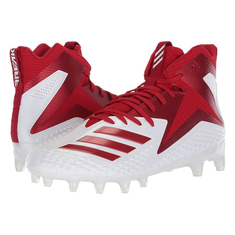 アディダス メンズ アメリカンフットボール シューズ・靴【Freak x Carbon Mid】Footwear White/Power Red/Power Red
