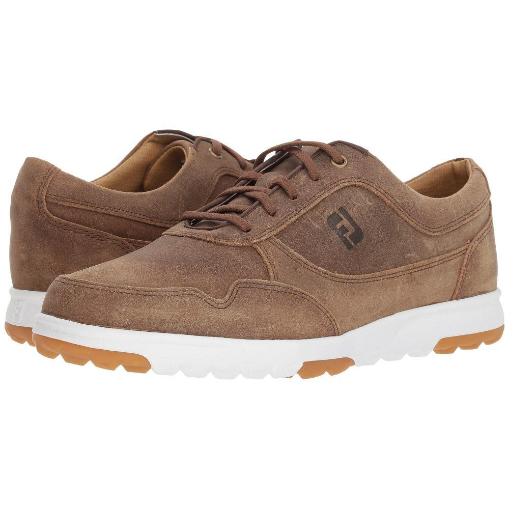 フットジョイ メンズ ゴルフ シューズ・靴【Golf Casual Spikeless Street Sneaker】All Over Hickory/Tan Waxed Suede
