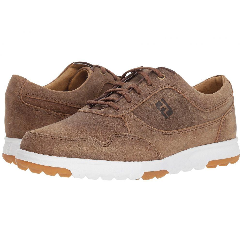 フットジョイ メンズ ゴルフ シューズ・靴【Golf Casual Spikeless Street Sneaker】All Over Hickory/Tan Waxed Suede