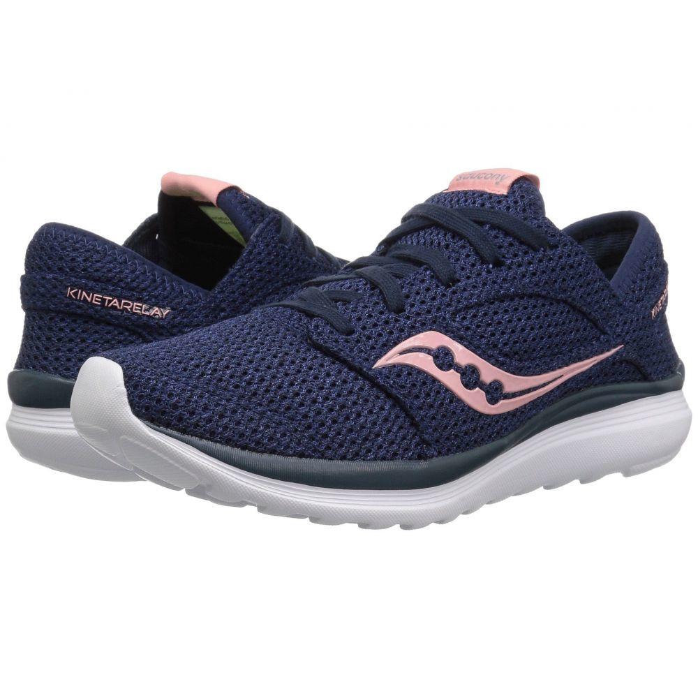 サッカニー Saucony レディース ランニング・ウォーキング シューズ・靴【Kineta Relay】Navy/Pink
