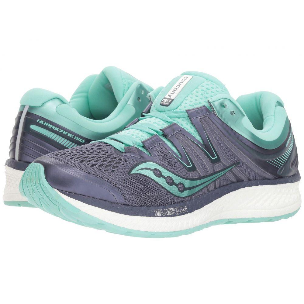 サッカニー Saucony レディース ランニング・ウォーキング シューズ・靴【Hurricane ISO 4】Grey/Aqua