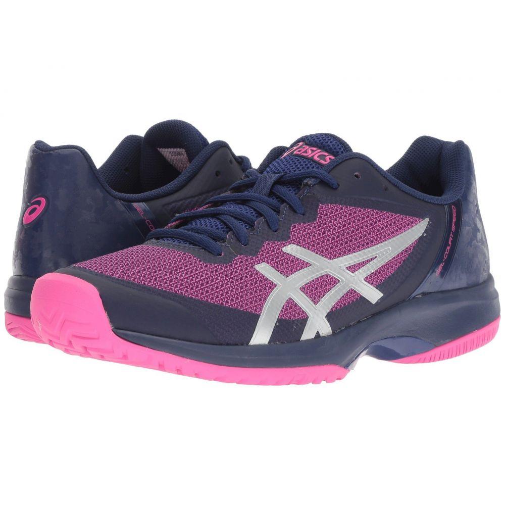アシックス ASICS レディース テニス シューズ・靴【Gel-Court Speed】Blue Print/Pink Glo