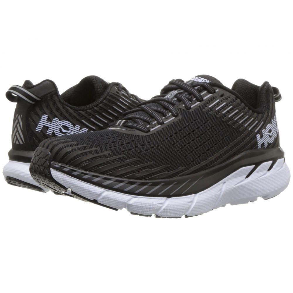 ホカ オネオネ Hoka One One レディース ランニング・ウォーキング シューズ・靴【Clifton 5】Black/White