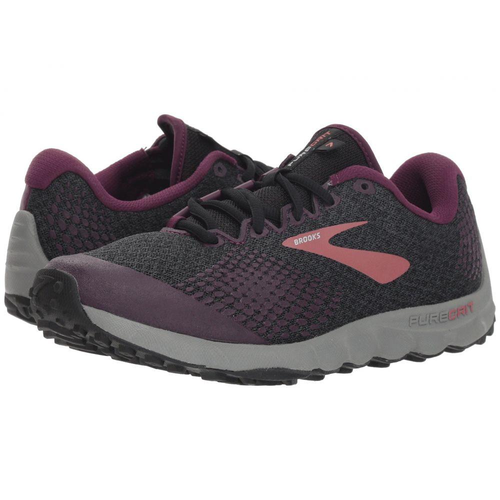ブルックス Brooks レディース ランニング・ウォーキング シューズ・靴【PureGrit 7】Black/Purple/Grey