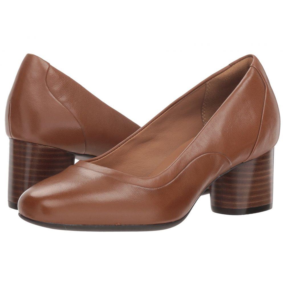 クラークス Clarks レディース シューズ・靴 パンプス【Un Cosmo Step】Dark Tan Leather