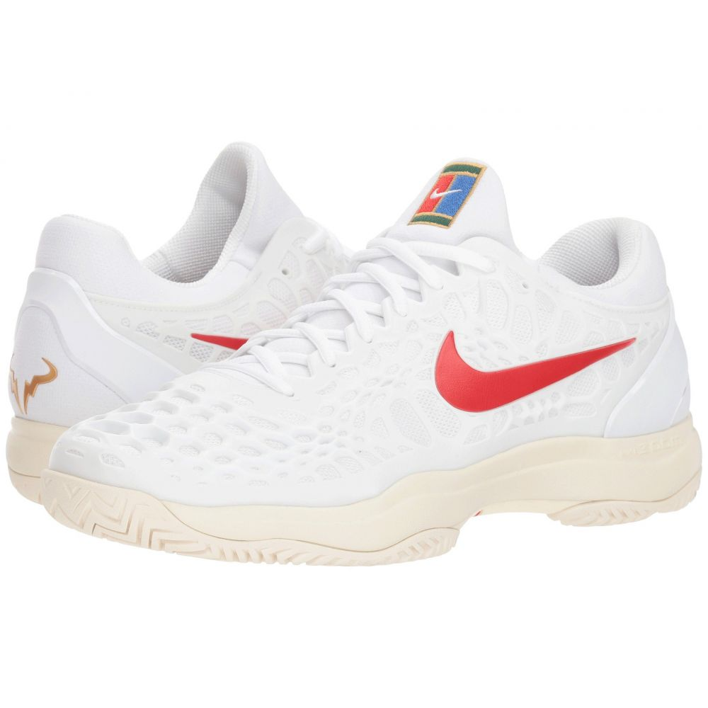 ナイキ Nike メンズ テニス シューズ・靴【Zoom Cage 3 HC】White/University Red/Light Cream
