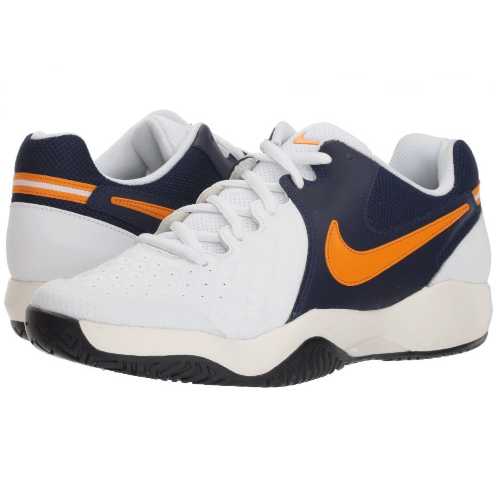 ナイキ Nike メンズ テニス シューズ・靴【Air Zoom Resistance】White/Orange Peel/Blackened Blue/Phantom