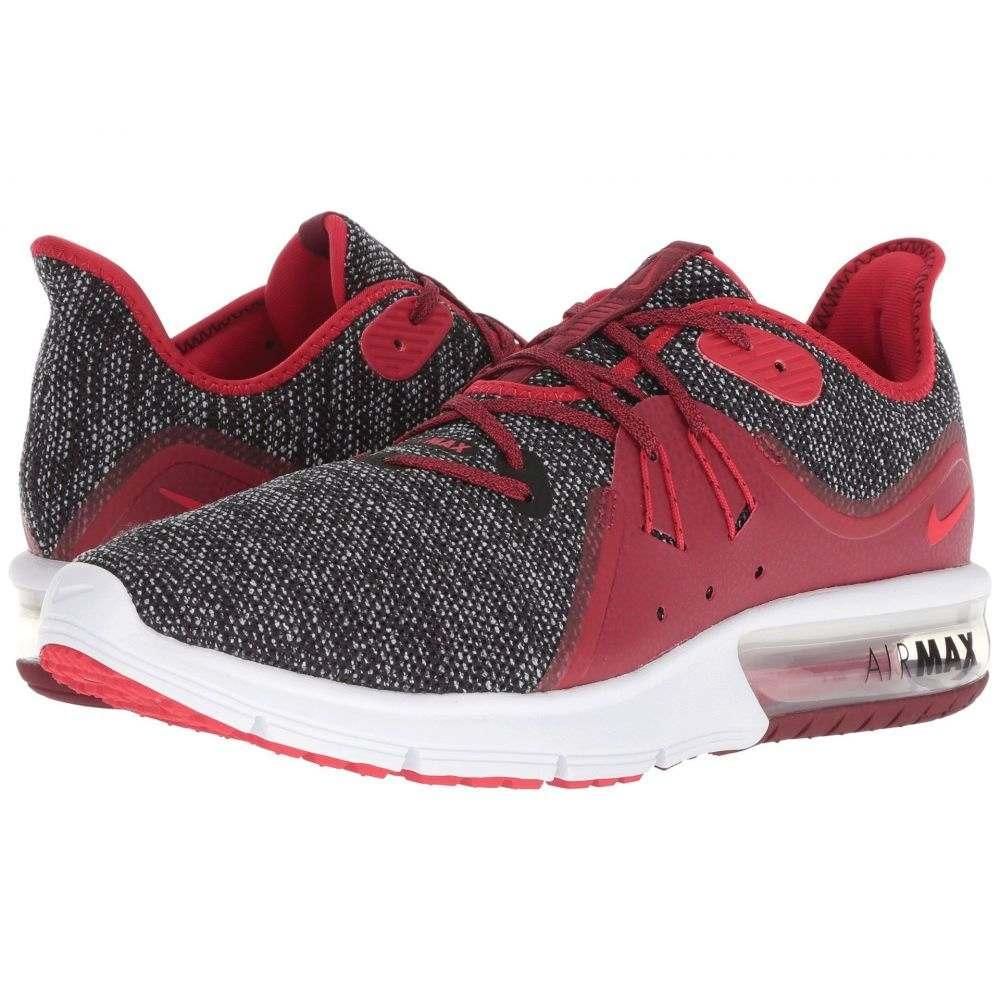 ナイキ Nike メンズ ランニング・ウォーキング シューズ・靴【Air Max Sequent 3】Black/University Red/White/Team Red