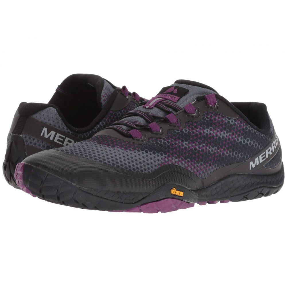 メレル Merrell レディース ランニング・ウォーキング シューズ・靴【Trail Glove 4 Shield】Black/Purple