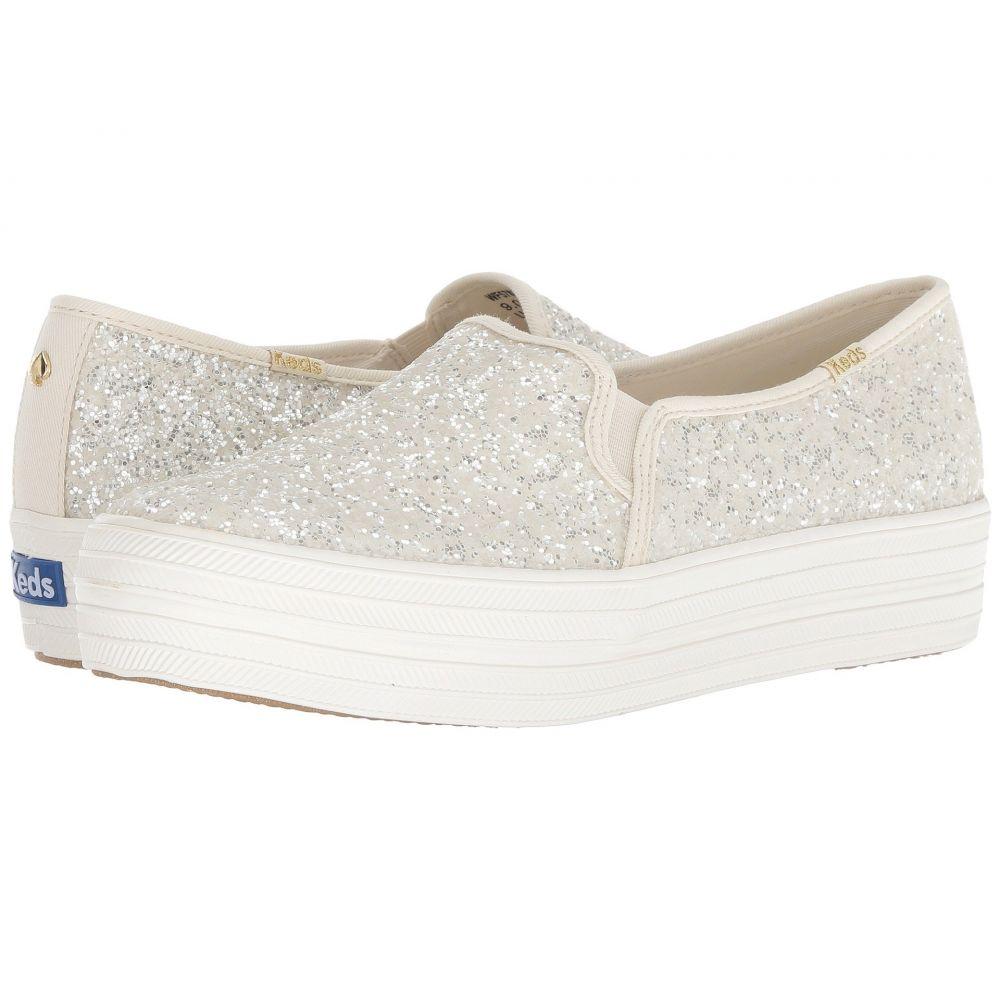 ケイト スペード Keds x kate spade new york レディース シューズ・靴 スニーカー【Bridal Triple Decker Glitter】Cream Glitter