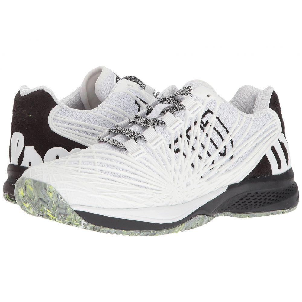 ウィルソン Wilson メンズ テニス シューズ・靴【Kaos 2.0】White/Black/Safety Yellow