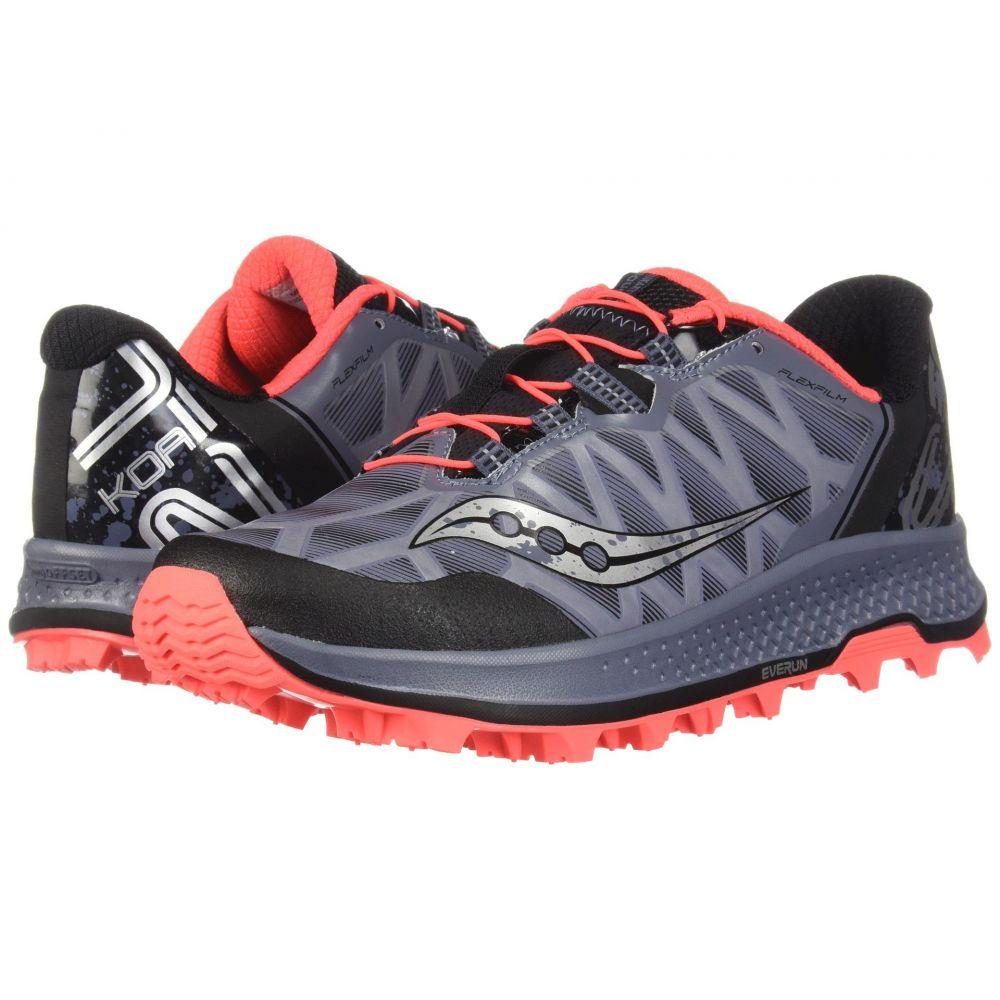 サッカニー Saucony メンズ ランニング・ウォーキング シューズ・靴【Koa ST】Grey/Black/Vizi Red