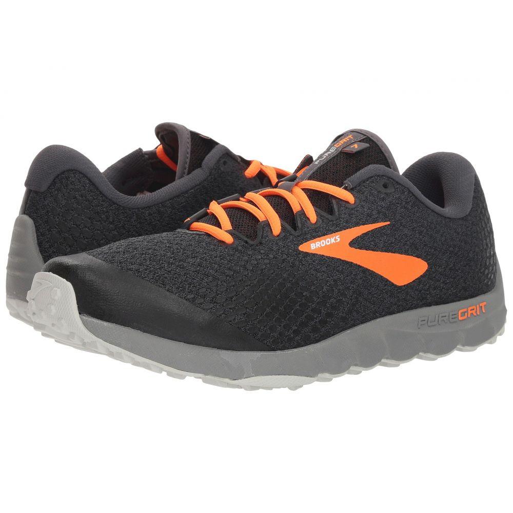 ブルックス Brooks メンズ ランニング・ウォーキング シューズ・靴【PureGrit 7】Black/Orange/Grey