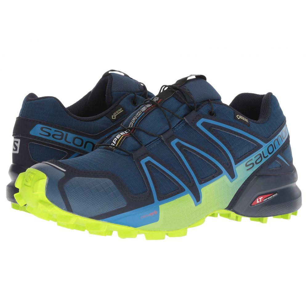 サロモン Salomon メンズ ランニング・ウォーキング シューズ・靴【Speedcross 4 GTX】Poseidon/Navy Blazer/Lime Green