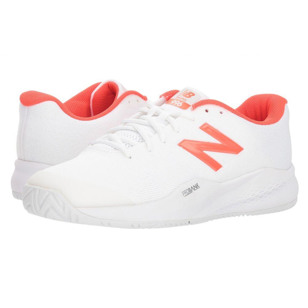 ニューバランス New Balance メンズ テニス シューズ・靴【MCH996v3 Tennis】White/Flame