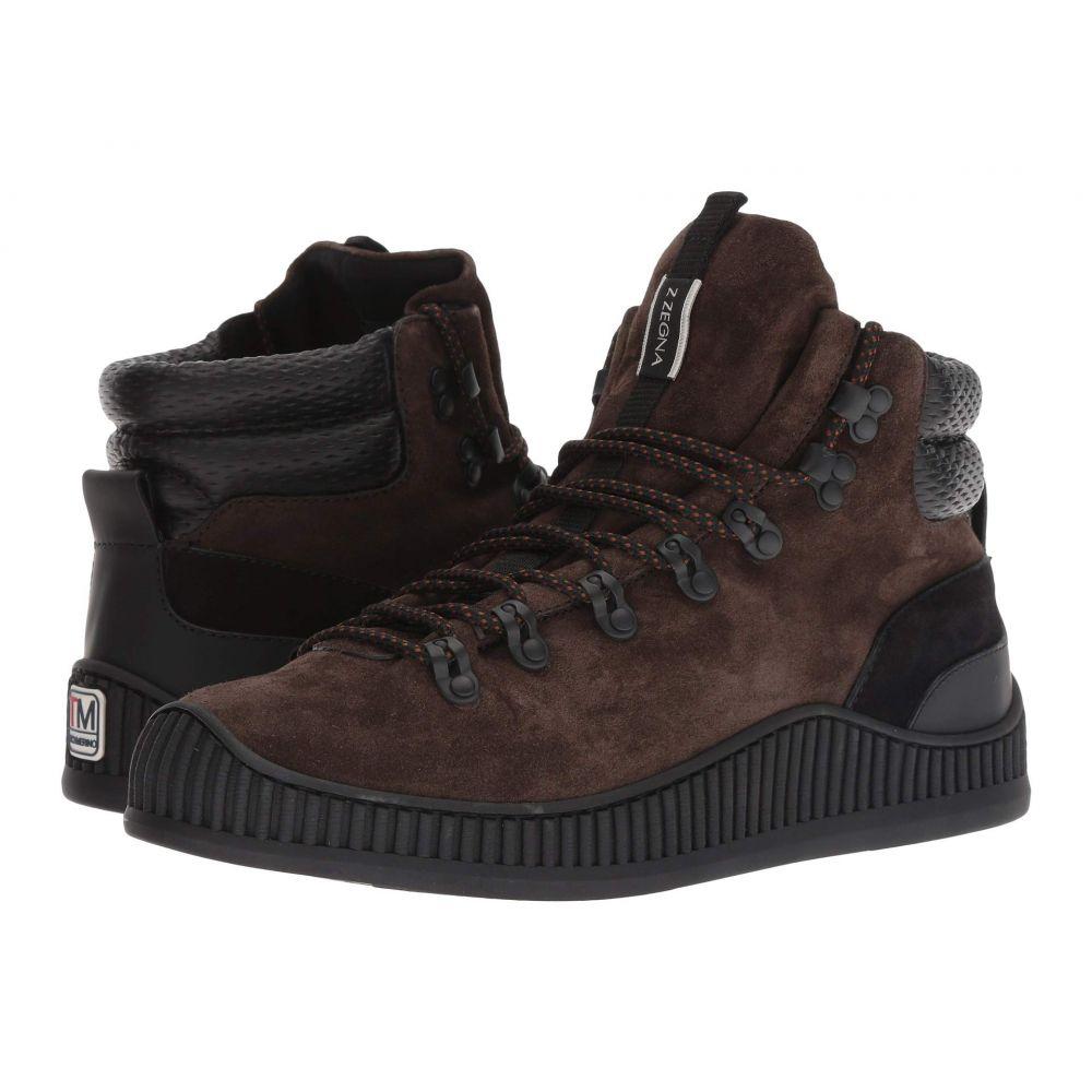 ジーゼニア Z Zegna メンズ ハイキング・登山 シューズ・靴【Techmerino Hiking Mountaineer Sneaker】Dark Brown