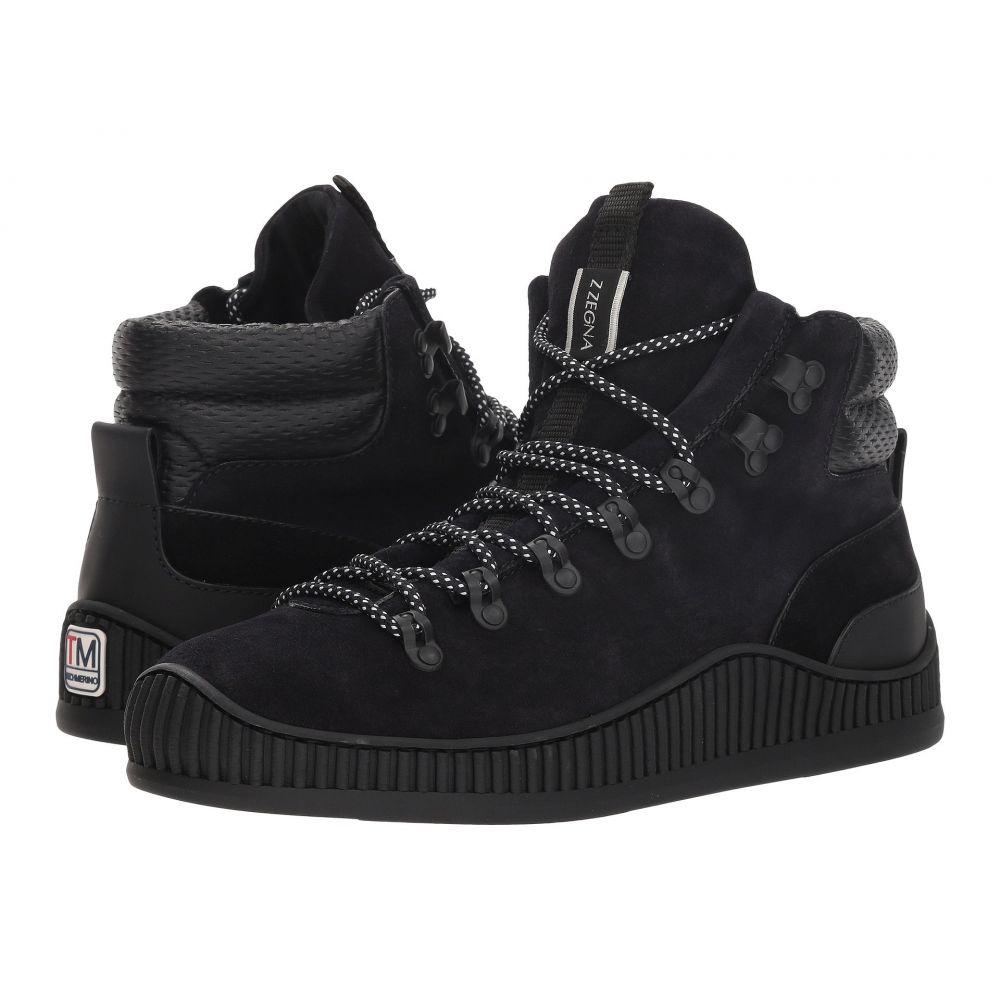 ジーゼニア Z Zegna メンズ ハイキング・登山 シューズ・靴【Techmerino Hiking Mountaineer Sneaker】Navy