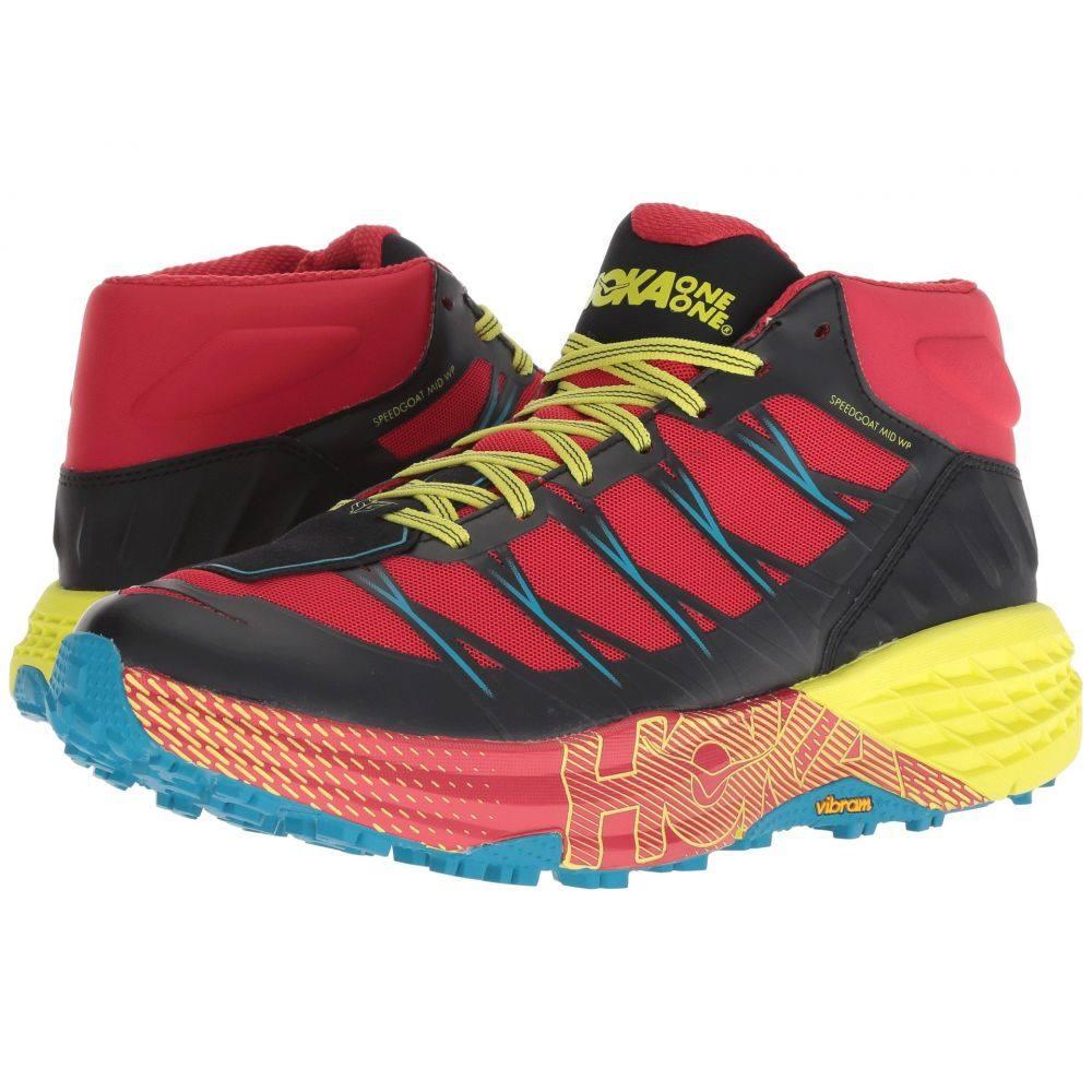 ホカ オネオネ Hoka One One メンズ ハイキング・登山 シューズ・靴【Speedgoat Mid WP】Chinese Red/Caribbean Sea