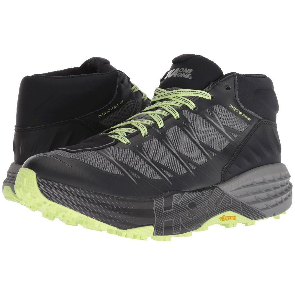 ホカ オネオネ Hoka One One メンズ ハイキング・登山 シューズ・靴【Speedgoat Mid WP】Black/Steel Grey