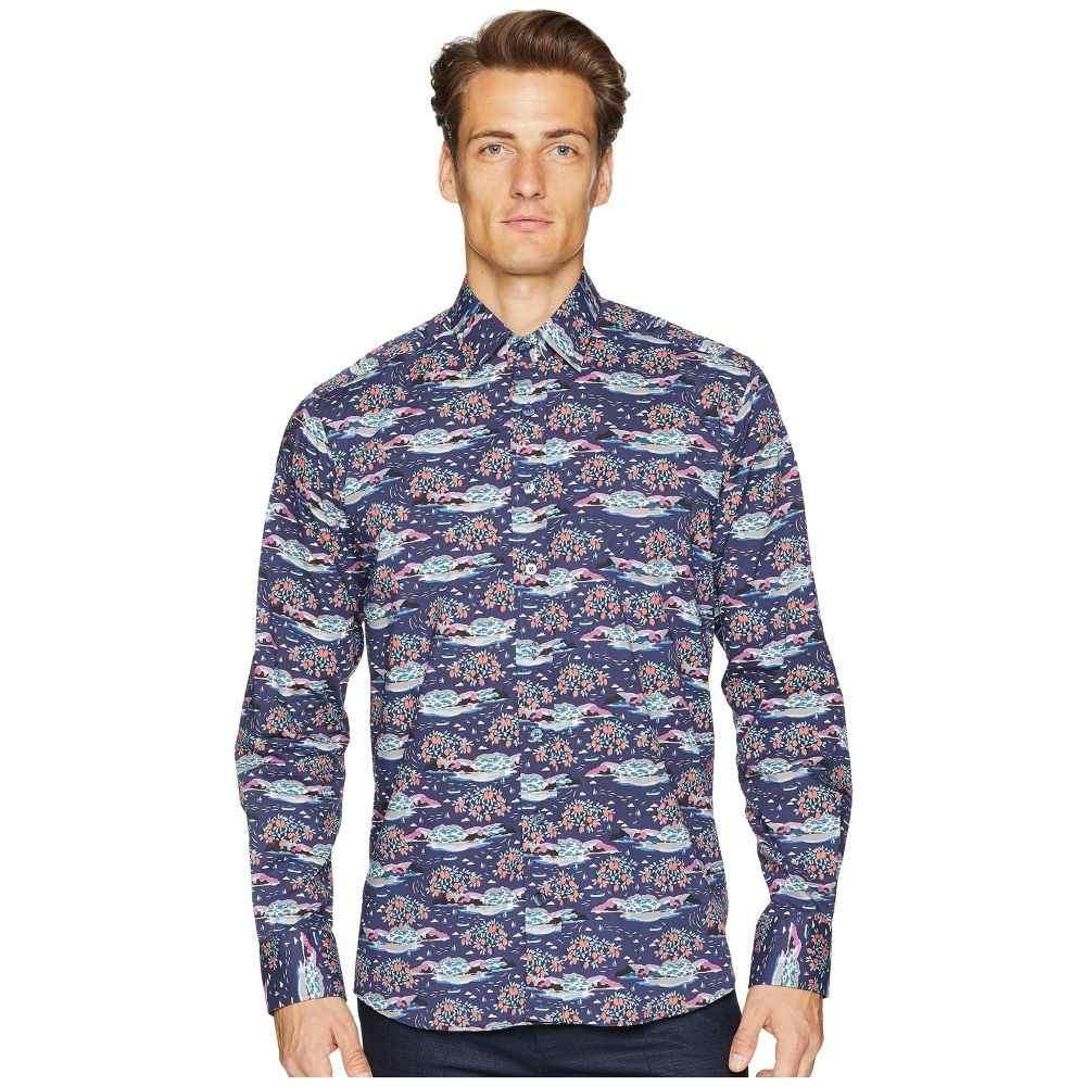 エトロ Etro メンズ トップス シャツ【New Warrant Mountainscape Shirt】Navy